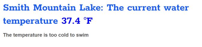 Lake Temp